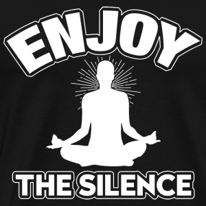yoga en meditatie enjoy the silence-png - Mannen Premium T-shirt