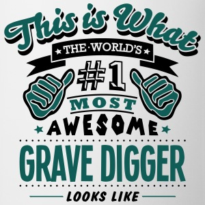 grave digger world no1 most awesome T-SHIRT - Mug