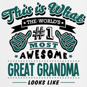 great grandma world no1 most awesome cop T-SHIRT - Cooking Apron