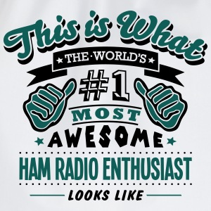 ham radio enthusiast world no1 most awes T-SHIRT - Drawstring Bag