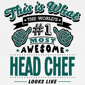 head chef world no1 most awesome T-SHIRT - Baseball Cap