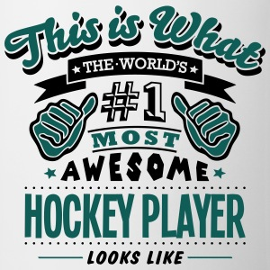 hockey player world no1 most awesome cop T-SHIRT - Mug