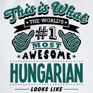 hungarian world no1 most awesome T-SHIRT - Drawstring Bag