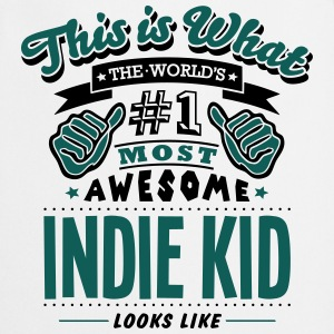 indie kid world no1 most awesome T-SHIRT - Cooking Apron