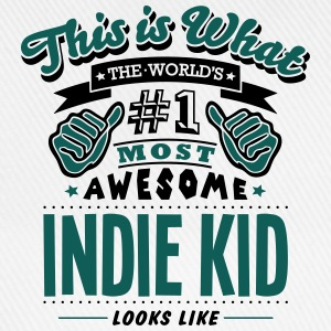 indie kid world no1 most awesome T-SHIRT - Baseball Cap