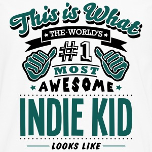 indie kid world no1 most awesome T-SHIRT - Men's Premium Longsleeve Shirt