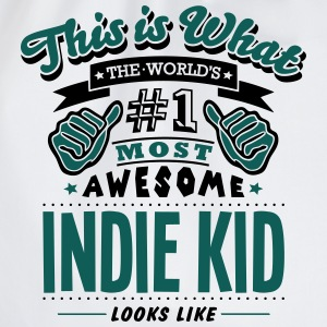 indie kid world no1 most awesome T-SHIRT - Drawstring Bag