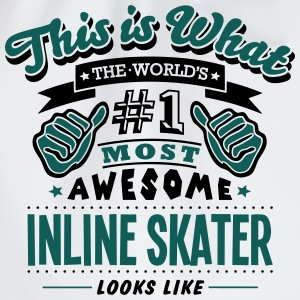 inline skater world no1 most awesome cop T-SHIRT - Drawstring Bag