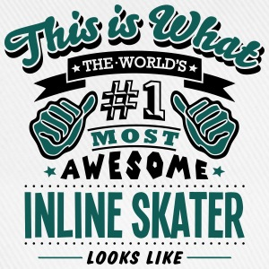 inline skater world no1 most awesome cop T-SHIRT - Baseball Cap