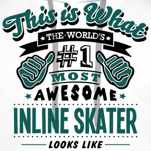 inline skater world no1 most awesome cop T-SHIRT - Men's Premium Hoodie