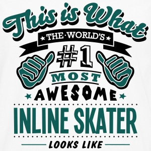 inline skater world no1 most awesome cop T-SHIRT - Men's Premium Longsleeve Shirt