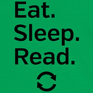 Eat - Sleep - Read - Repeat Tasker & rygsække - Herre kontrast-T-shirt