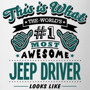 jeep driver world no1 most awesome T-SHIRT - Mug