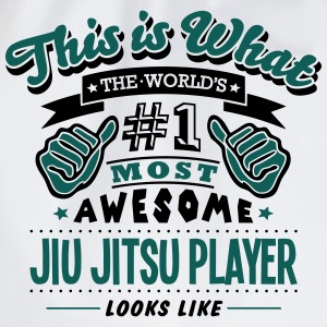 jiu jitsu player world no1 most awesome  T-SHIRT - Drawstring Bag