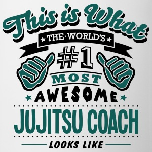jujitsu coach world no1 most awesome cop T-SHIRT - Mug