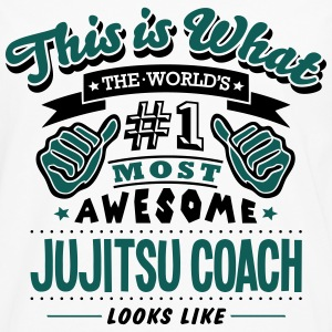 jujitsu coach world no1 most awesome cop T-SHIRT - Men's Premium Longsleeve Shirt