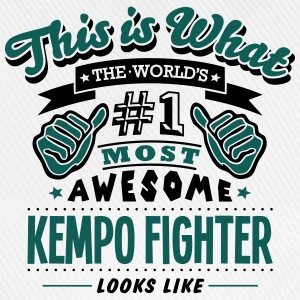 kempo fighter world no1 most awesome cop T-SHIRT - Baseball Cap