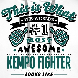 kempo fighter world no1 most awesome cop T-SHIRT - Men's Premium Hoodie