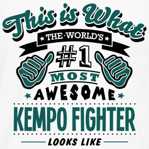 kempo fighter world no1 most awesome cop T-SHIRT - Men's Premium Longsleeve Shirt