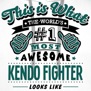 kendo fighter world no1 most awesome cop T-SHIRT - Men's Premium Hoodie