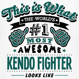 kendo fighter world no1 most awesome cop T-SHIRT - Men's Premium Longsleeve Shirt