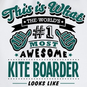kite boarder world no1 most awesome T-SHIRT - Drawstring Bag