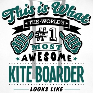 kite boarder world no1 most awesome T-SHIRT - Men's Premium Hoodie