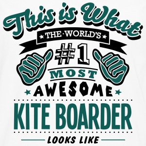 kite boarder world no1 most awesome T-SHIRT - Men's Premium Longsleeve Shirt