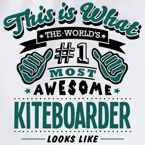kiteboarder world no1 most awesome T-SHIRT - Drawstring Bag