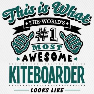 kiteboarder world no1 most awesome T-SHIRT - Baseball Cap