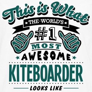kiteboarder world no1 most awesome T-SHIRT - Men's Premium Longsleeve Shirt