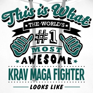 krav maga fighter world no1 most awesome T-SHIRT - Men's Premium Hoodie