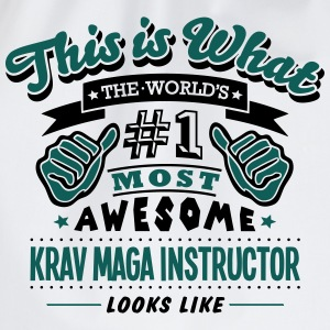 krav maga instructor world no1 most awes T-SHIRT - Drawstring Bag