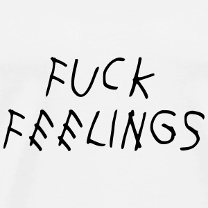 Fuck feelings Kasketter & Huer - Herre premium T-shirt