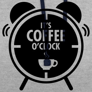It's Coffee O'Clock T-Shirts - Contrast Colour Hoodie