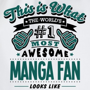 manga fan world no1 most awesome T-SHIRT - Drawstring Bag