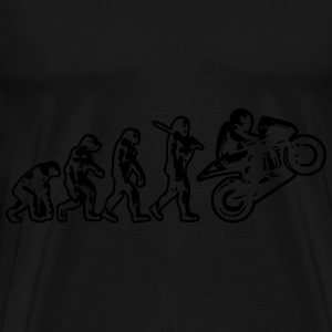 Motorbike Motorcycle Wheelie Evolution Hoodie - Men's Premium T-Shirt