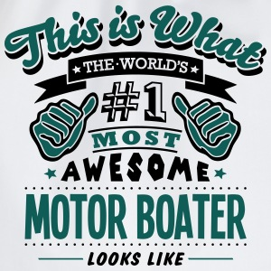 motor boater world no1 most awesome T-SHIRT - Drawstring Bag