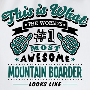 mountain boarder world no1 most awesome  T-SHIRT - Drawstring Bag