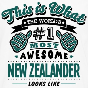 new zealander world no1 most awesome cop T-SHIRT - Men's Premium Longsleeve Shirt