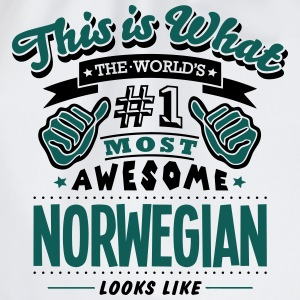 norwegian world no1 most awesome T-SHIRT - Drawstring Bag