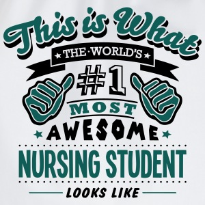 nursing student world no1 most awesome c T-SHIRT - Drawstring Bag