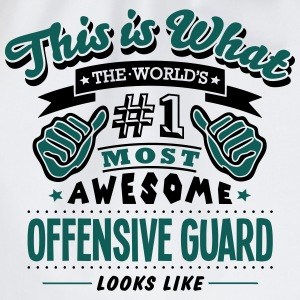 offensive guard world no1 most awesome c T-SHIRT - Drawstring Bag