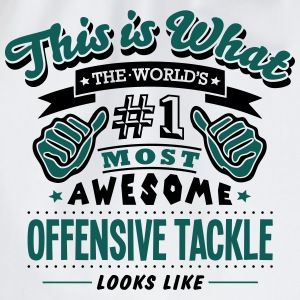 offensive tackle world no1 most awesome  T-SHIRT - Drawstring Bag