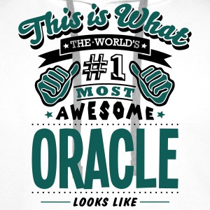 oracle world no1 most awesome T-SHIRT - Men's Premium Hoodie