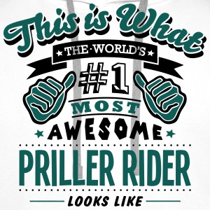 priller rider world no1 most awesome cop T-SHIRT - Men's Premium Hoodie