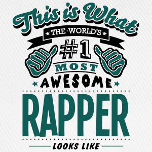rapper world no1 most awesome T-SHIRT - Baseball Cap