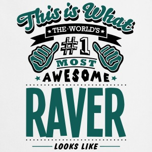 raver world no1 most awesome T-SHIRT - Cooking Apron