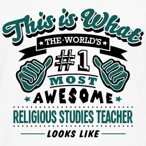 religious studies teacher world no1 most T-SHIRT - Men's Premium Longsleeve Shirt