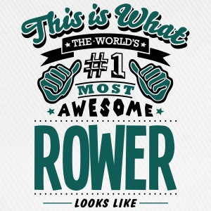 rower world no1 most awesome T-SHIRT - Baseball Cap